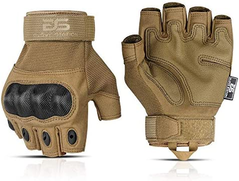 Glove Station The Combat Fingerless Military Police Outdoor Sports Tactical Rubber Knuckle Gloves product image