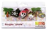 ScrapCooking 5000 8 Bougies - Pirates, Paraffine, Multicolore, 10,5 x 10 x 2 cm