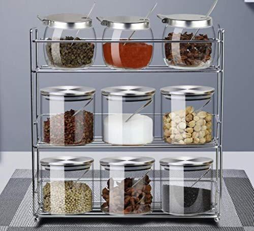Tarros de condimento caja de sal de pollo, pimienta, chile, fideos, caja de condimento, juego de hogar, almacenamiento de cocina