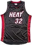 GIHI Herren NBA Trikot - Miami Heat NBA 32# Shaquille O'Neal Trikots - Retro Bestickte Mesh...