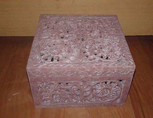 Undercut antiguo mármol/Onyx caja de joyería, 5x 5cm