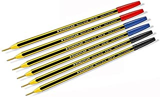 Staedtler Noris Stick Penna a Sfera, 1 mm, Set da 6 Pezzi, (Blu,Rosso,Nero)