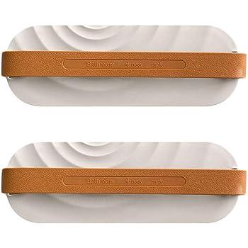QMO スリッパラック シューズラック 室内 玄関 バスルーム 壁掛けフック スリッパホルダー 靴収納ラック 自己接着 2個セット (ホワイト)
