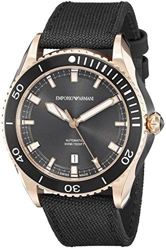 Emporio Armani fabricado en Suiza de los hombres ars9006Analog Display Swiss–Reloj automático negro