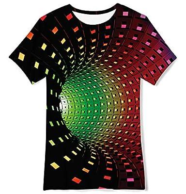 Funnycokid Boys Girls 3D Graphic T-Shirt Kids Cool Casual Shirt Unisex Short Sleeve Summer Tee Tops 6-16 Years