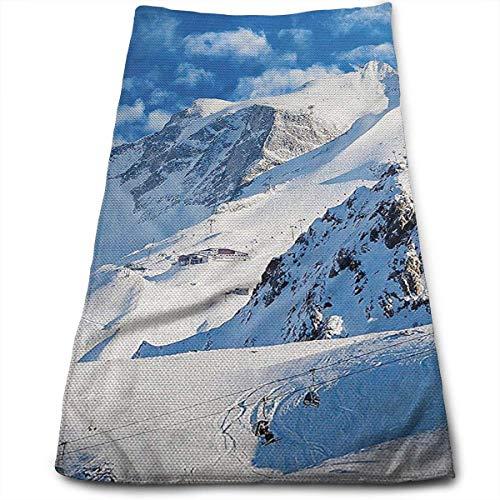Tyueu Toallas de baño de esquí de montaña para baño, hotel, spa, cocina, circlet, algodón egipcio, muy absorbentes