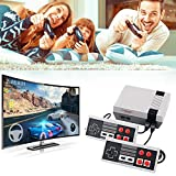 Sorlakar Retro Game Console, AV Output NES Console with Built-in 620 Classic Video Games and 2 Controllers Plug and Play for Kids and Adults