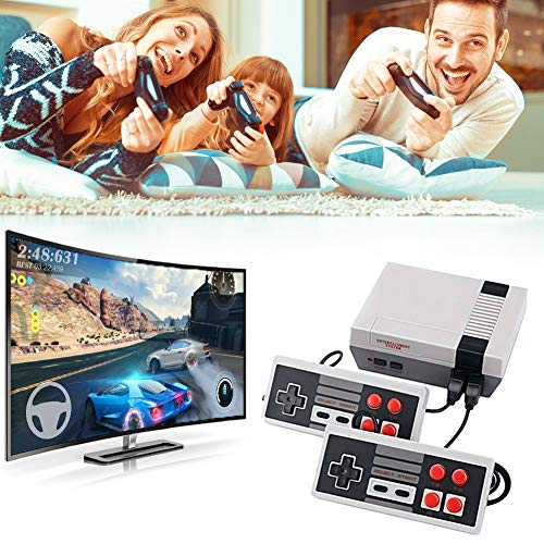 Sorlakar Retro Game Consle with 620 Built-in NES Games,AV Output Video Game Console with 2 Controllers Plug and Play Memorable Games for Kids and Adults