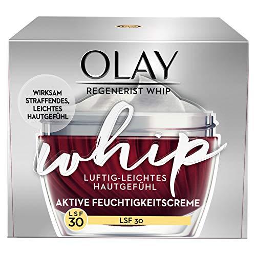 Olay Regenerist Whip Luftig-Leichte Feuchtigkeitspflege LSF30 50 ml – Straffende Wirkung, Sichtbare Reduzierung Von Falten Und Leichtes Hautgefühl