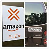 Car Signs for Flex Drivers Car Magnetic Sign Vehicle 2 Signs (1)- 8.5' x 9.5'&(1)- 3''9.5''