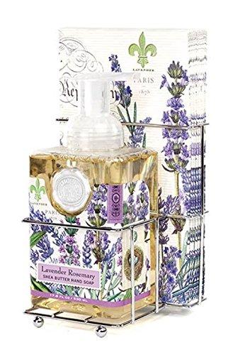 Michel Design Works Foaming Hand Soap and Napkin Caddy Set, Lavender...