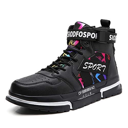 SKDOIUL Sneakers for Men Sport Skate Running Shoes Athletic Tennis Walking Shoes Skateboarding Fashion Sneaker Black Size 11