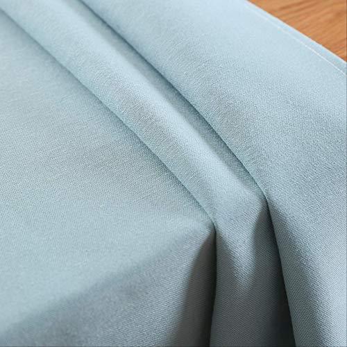 YALINA Mantel De Restaurante Impermeable De Color Puro, Mantel De Hotel, Utilizado para La Decoración del Hogar De La Fiesta De Vacaciones 120 * 120 Azul Claro