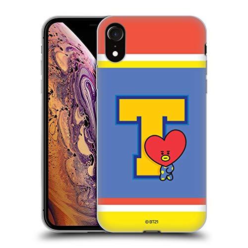 Head Case Designs Licenciado Oficialmente BT21 Line Friends Tata Wappen Sporty Carcasa de Gel de Silicona Compatible con Apple iPhone XR