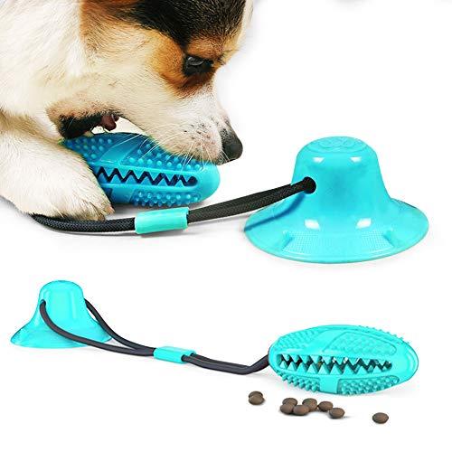 Bastone per spazzolino da denti, giocattolo per cani con ventosa, giocattolo da masticare con spazzolino da denti per cani, dispenser per palline per cani, funzione di cura dentale per cane