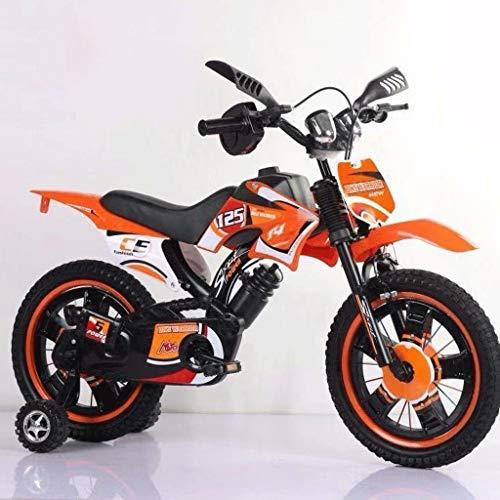 LI HAO SHOP Kinderfahrräder, Motorräder Fahrrad, Kinder-Mountainbikes, Kindermotorräder (Multi-Size optional) (Color : Orange, Size : 16 in)