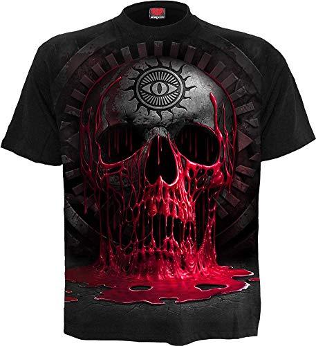 Spiral Direct Damen Steam Punk Ripped-Laceup Sleeve Top Black Langarmshirt, Schwarz, 42 (Herstellergröße:)