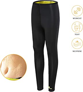 Gowhods Women Weight Loss Hot Sweat Sauna Pants - Fat Burning, Leg Slimming, Increasing Sweat, Smoother Skin, Gym Sports Ninth Leggings for Indoor & Outdoor Workout
