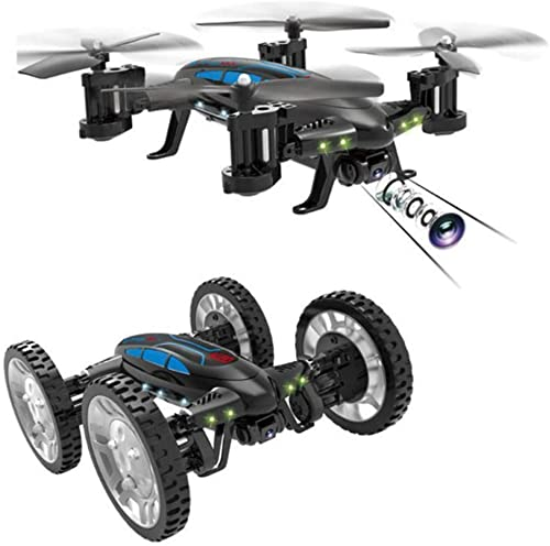 Mengen88 WiFi Real-Time Aerial Four-Axis Aircraft Built-in 3.7V 650mAh Lithium Batterie mit Protective Plate, Remote Control Plane, FPV RC Stunt Car mit WiFi Kamera