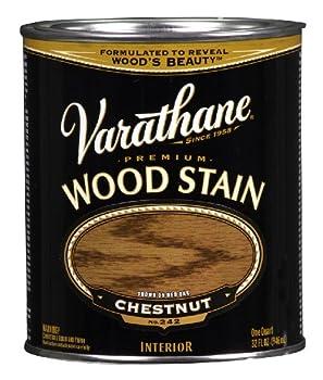 Rust-Oleum 211721H Premium Wood Stain Quart Varathane Satin Chestnut