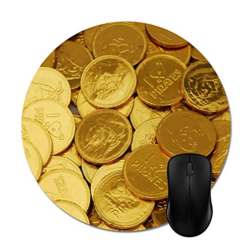 Chocolade Munten Muismatten Trendy Kantoor Desktop Accessoire Ronde 8