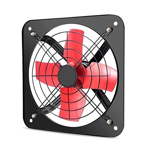 Ventilador De Escape Montadoen La Pared Ventilador montado en la pared, bajo ruido Cocina Baño Extractor Extintor, ultra silencioso ventilador de ventilación, Neutro Industrial Metal Comercial de esca