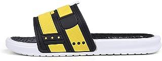 Men's Shoes Soft Massage Slippers Men Plus Fashion Summer Men Flip Flops Outdoor Beach Sandal for Men (Color : Yellow, Shoe Size : 41)