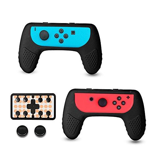 Nintendo Switch Joy-Con Grip Contrôleur Kit avec Capuchons de Pouce - Lot de 2, Kit d'accessoires Joy Con Handle Poignées résistant à l'usure par CHINFAI