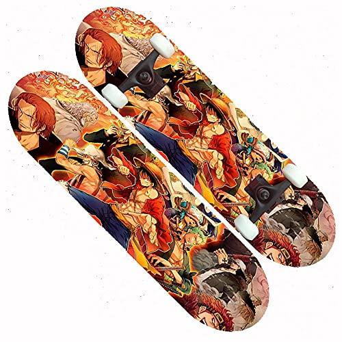 7-Lagiger Kanadischer Ahorn Doppelkick Maple Deck Concave Cruiser Skateboard Komplett Für Kinder Jugendliche & Erwachsene Anfänger Belastung 200kg-amarillo