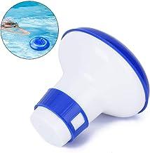 Dispensador de cloro de piscina flotante, plástico Duradero 5 pulgadas Almacenamiento seguro Piscina Dispensador de limpieza automática flotante químico Accesorio de baño Dispensador de cloro flotante