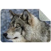 エリアラグ軽量 冬のオオカミ フロアマットソフトカーペットチホームリビングダイニングルームベッドルーム