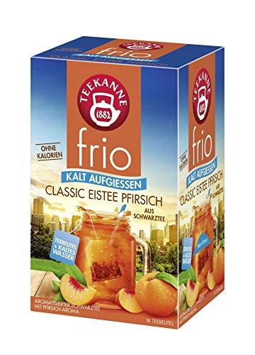 Teekanne frio Classic Eistee Pfirsich, 10er Pack (10 x 18 Teebeutel), 10 x 45 g