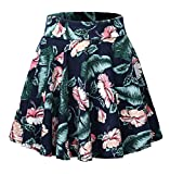 Urban CoCo Women's Floral Print Flared Mini Skater Skirt (M, 4)