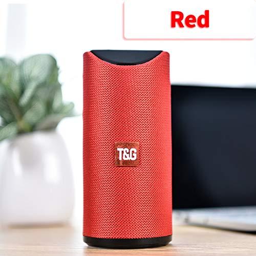 DishyKooker blue-tooth luidspreker, draagbare buitenluidspreker, draadloze mini zuil 3D, 10 watt, stereo muziek surround ondersteuning, FM TF-kaart bas box, elektronische producten voor geschenken, rood