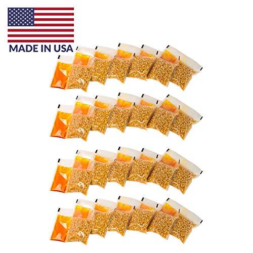 Nostalgia KPP424 Best Tasting Premium 4-Ounce Popcorn, Oil & Seasoning Salt All-In-One Packs - 24 Count