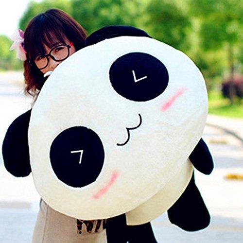 Steellwingsf Peluche mignonne en forme de panda géant - Oreiller doux en peluche - 45 cm