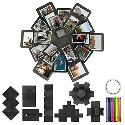 Explosion Gift Box Set, Assembled, DIY Surprise Photo Album Box/Scrapbook, for Birthday Anniversary Wedding by Cardboarts