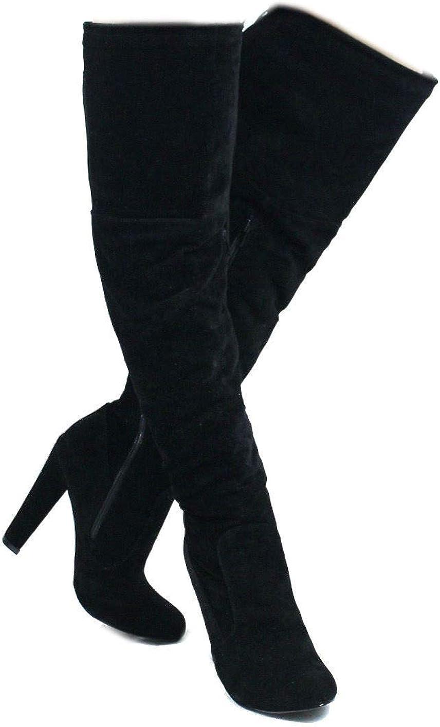 Sophie Round Superlatite Toe Over The Knee Heel High Boot Ranking TOP18 Dress Chunky Thigh