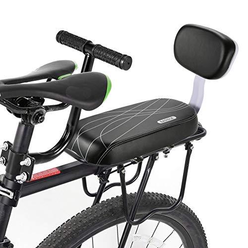 Sillines de Bicicleta para Niños Cojín de Asiento Trasero de Bicicleta, Asiento Trasero para Bicicleta, Sillín de Bicicleta Ciclismo Asiento de Seguridad para Niños Kid Child Safety Carrier Bicicleta