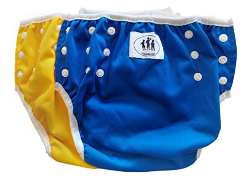 Three Little Imps set de 2 couches de bain à motif - 1-2 an - vert, bleu ou jaune