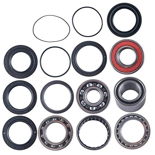 East Lake Axle rear differential bearing & seal kit compatible with Yamaha 350 Wolverine 1995 1996 1997-2005