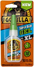 Gorilla 102433 XL Super Glue Gel, 1-Pack, Clear