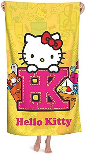 Hello Kitty - Toalla de playa para niños, diseño de Hello Kitty (2,90 cm x 180 cm)