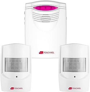 Kit de Seguridad Alarma TOUCHXEL Sistema de Alarma Antirrobo Inalmbrico Hogar 1 Receptor y 2 Detectores de Sensor de Movimiento PIR Resistentes Intemperie para Patio / Granero / Garaje
