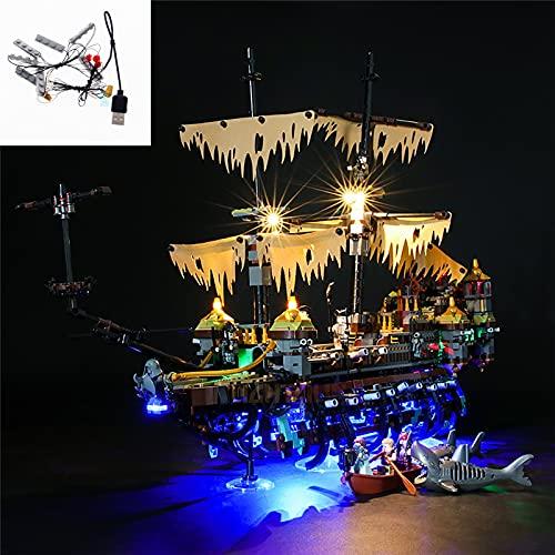 TWapRE Juego De Luces LED para 71042 Mary Piratas del Caribe Juego De Iluminación Bloques De Construcción Juego De Juguetes De Bricolaje (No Incluye Modelo Lego)