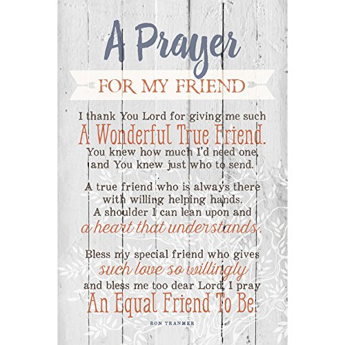 Dexsa Prayer for My Friend…New Horizons Wood Plaque with Easel