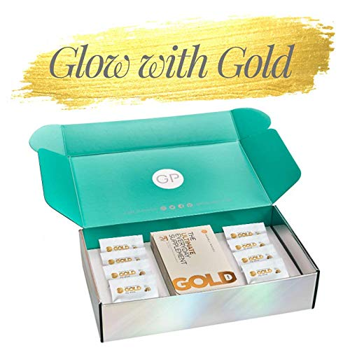 Glow with Gold Gift Box | 15 Day Supply | Vegan | Anti-Inflammatory & Antioxidant | Multivitamins & Minerals | Immunity & Heart Health | Algae Omega 3 | High Strength Turmeric | Made in UK