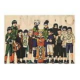 Haushele OFD Anime Naruto Kraft Retro Poster Tonari no