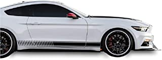 Bubbles Designs Decal Sticker Vinyl Side Racing Stripes Compatible with Ford Mustang 2015-2017 (Black)