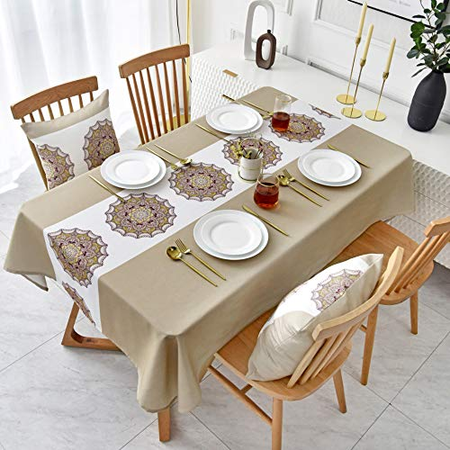 nobranded Household Ethnic Style Waterproof, Oil-Proof, Anti-Scald, Easy-to-Clean tablecloths, Square Table Covers, Table Mats, Nordic